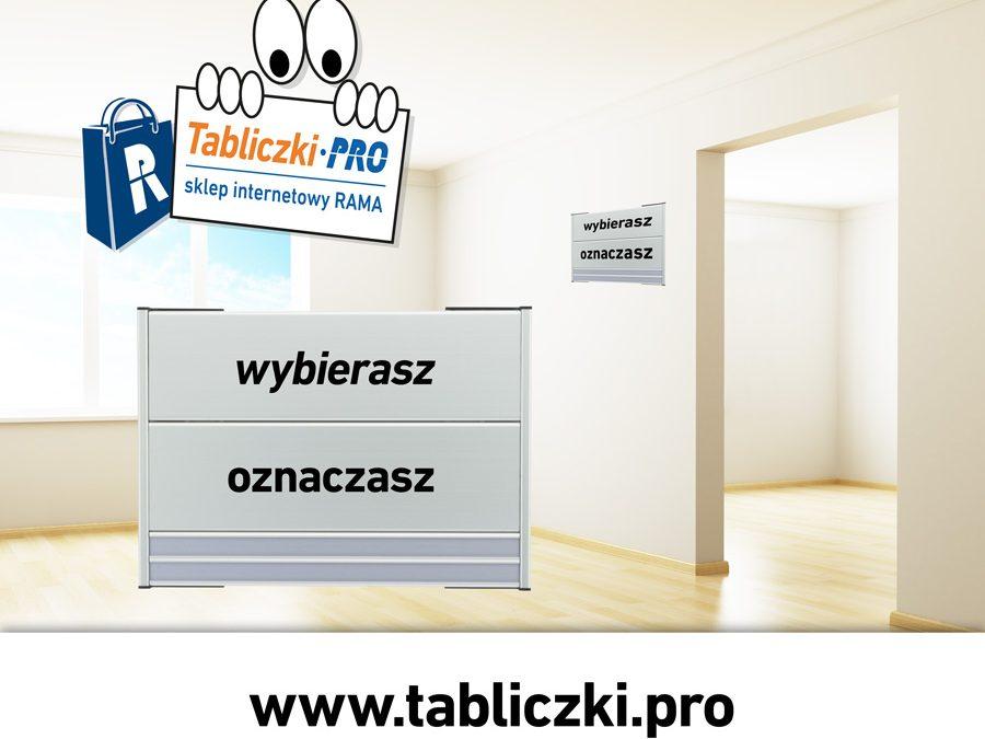 Sklep internetowy z tabliczkami przydrzwiowym